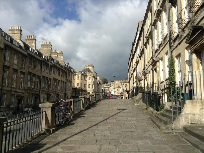 Georgian architecture in the city of Bath in England