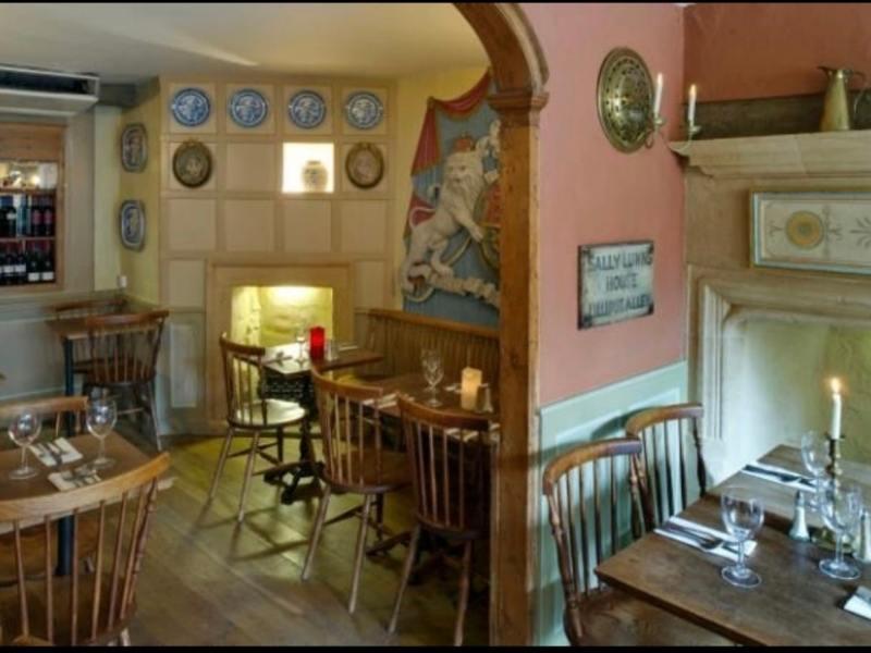 Interior of Sally Lunn's bakery in Bath