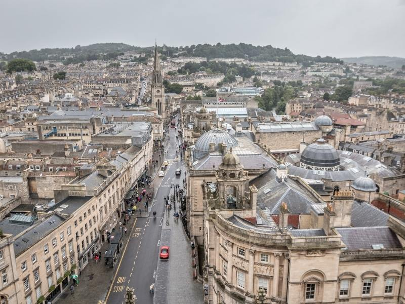 View over the city of Bath