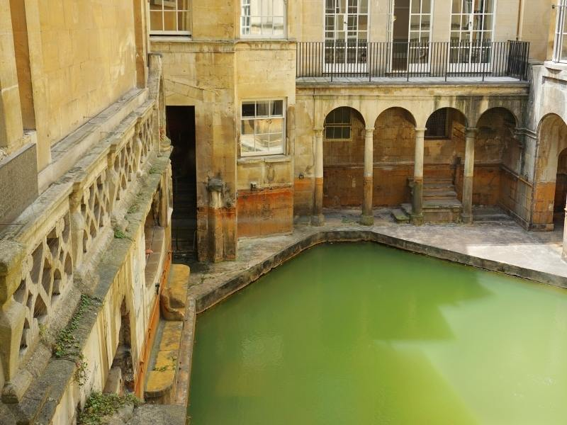 Roman Baths in Bath are the most popular attraction mentioned in any Bath travel guide