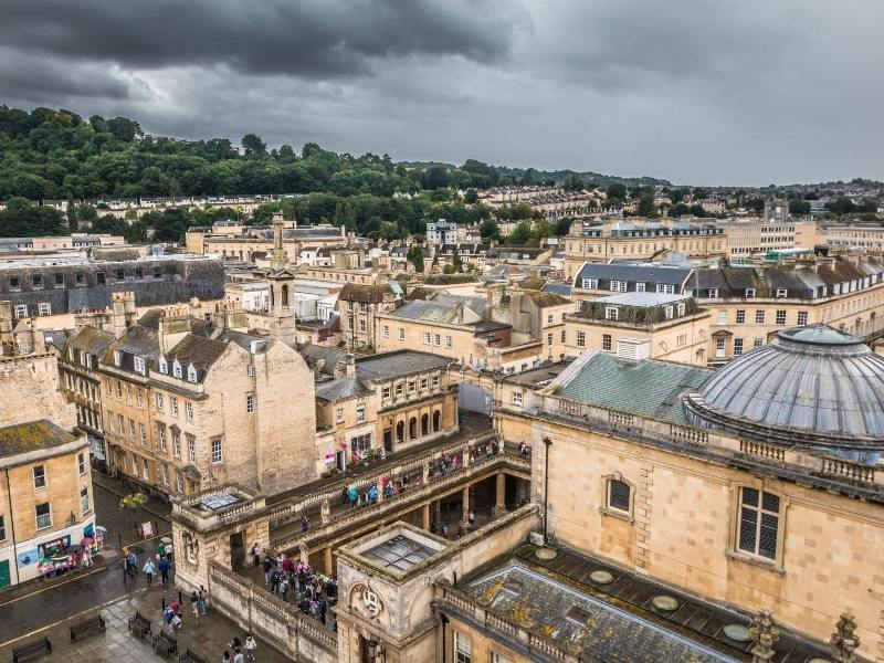 View over the rooftops of Bath