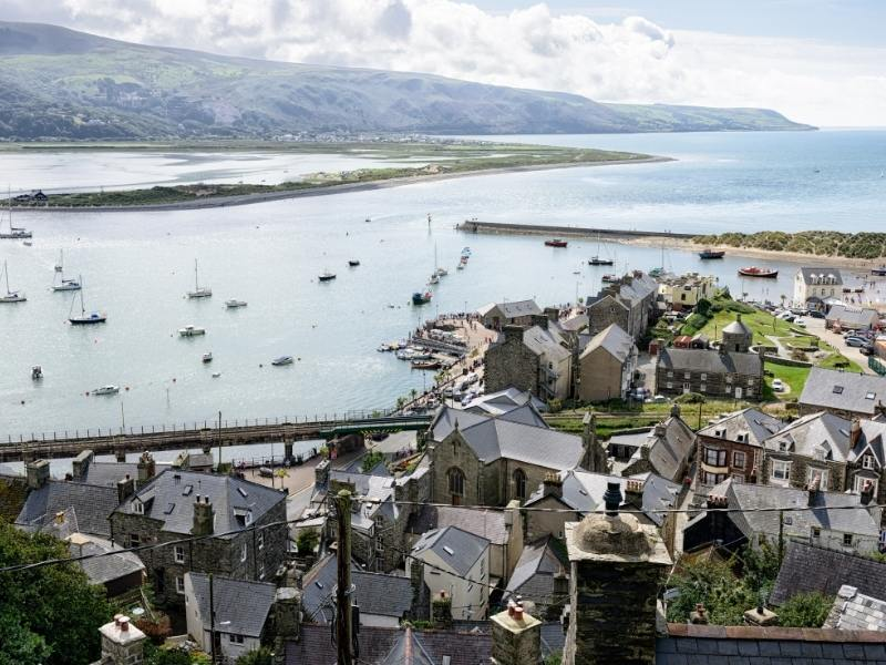 Wales seaside scene