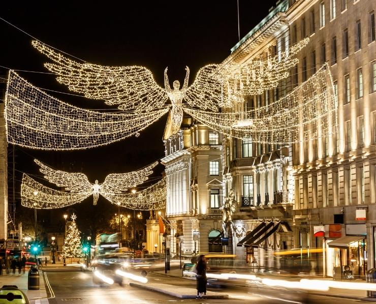 Regents Street Christmas lights.