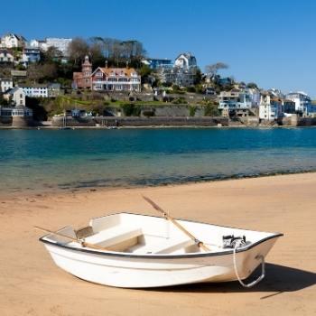 Boat on a Devon beach