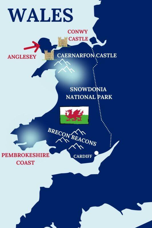 Popular destinations in Wales