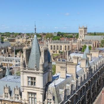Aerial view of the English city of Cambridge as seen in our Cambridge Travel Guide.