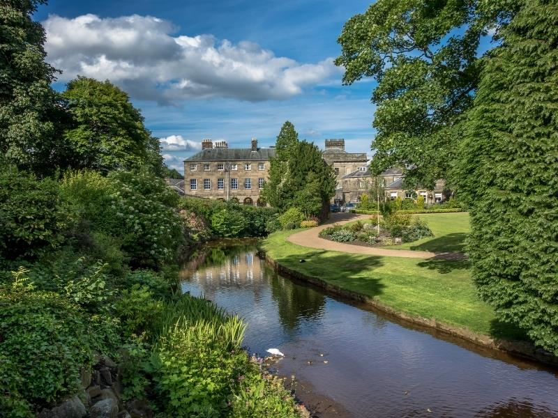 Buxton Gardens in the English Peak District.