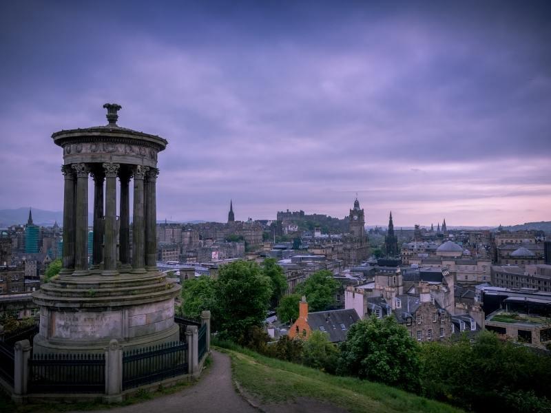 Calton Hill in Edinburgh.