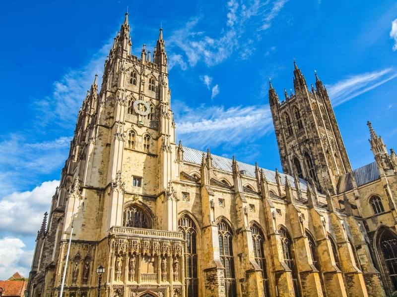 Canterbury Cathedral one of the easy day trips from London by train.