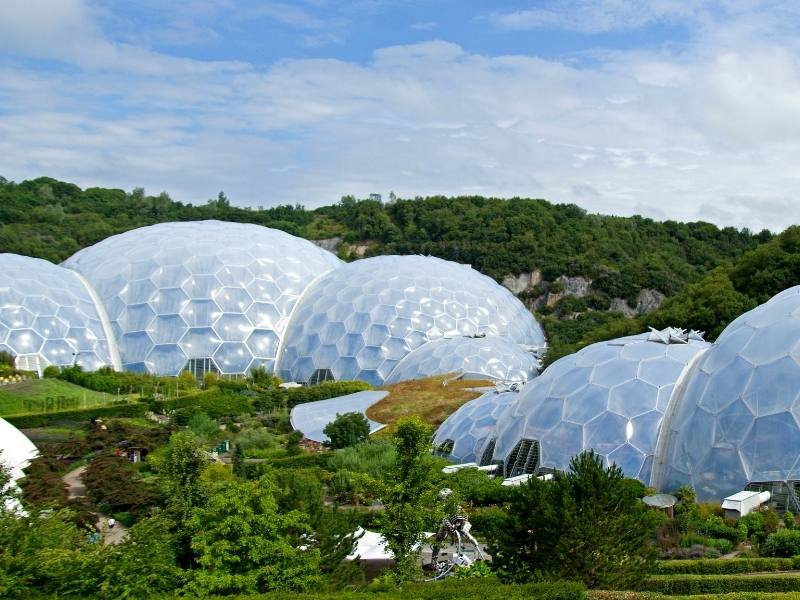 Eden Project near St Austell in Cornwall