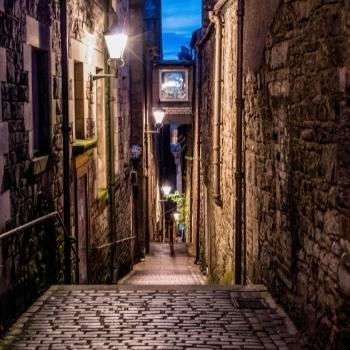 Alley in Edinburgh.