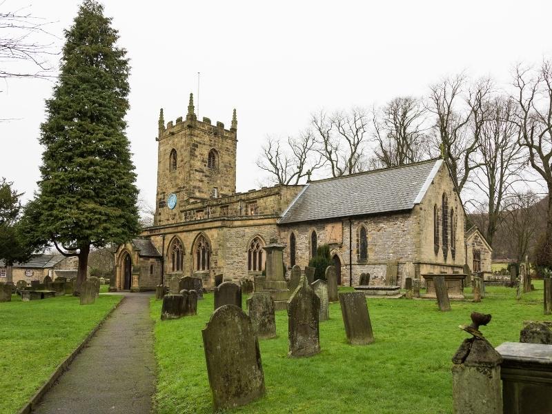 Eyam Church in the English Peak District.