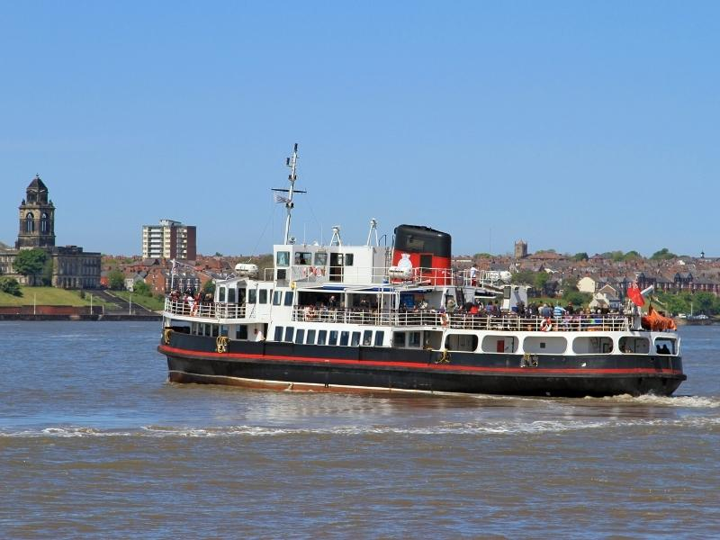 Ferry across the Mersey one of the things to do in Liverpool.