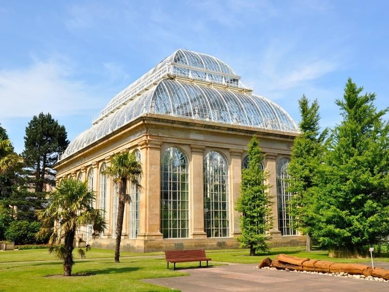 Glasshouses at the Botanical Gardens in Edinburgh.