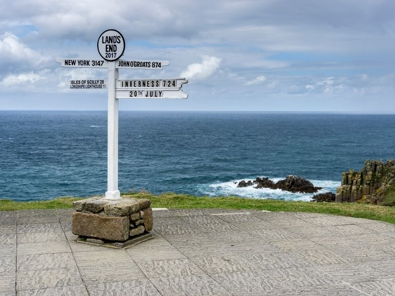 Land's End sign one of the most popular places for a selfie in Cornwall