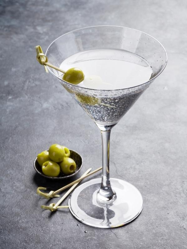 Martinin is one of the most popular English drinks and is often served with an olive.