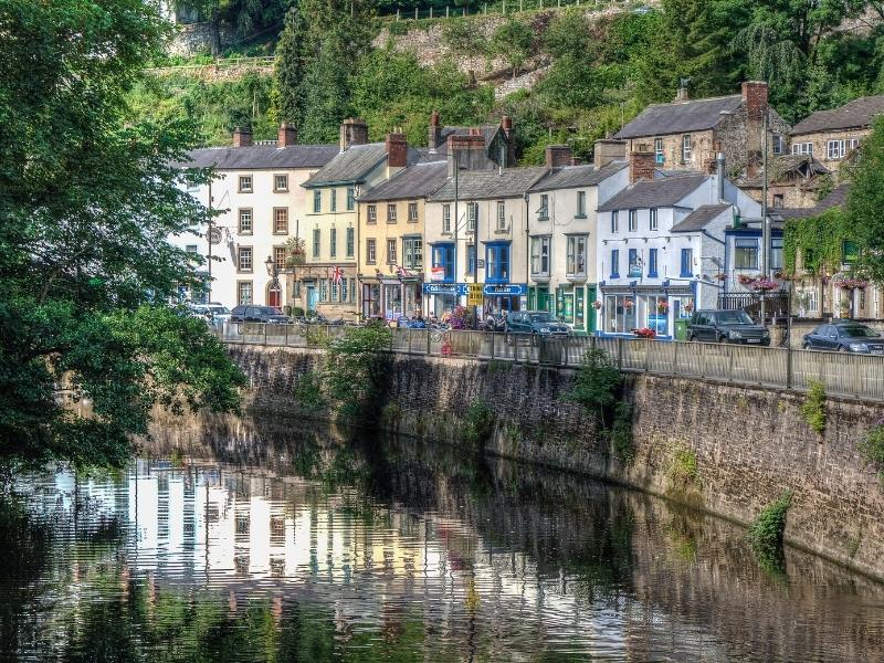 Matlock Bath with its beautiful backdrop, river and quaint cottages is one of the best places to stay in the Peak District.