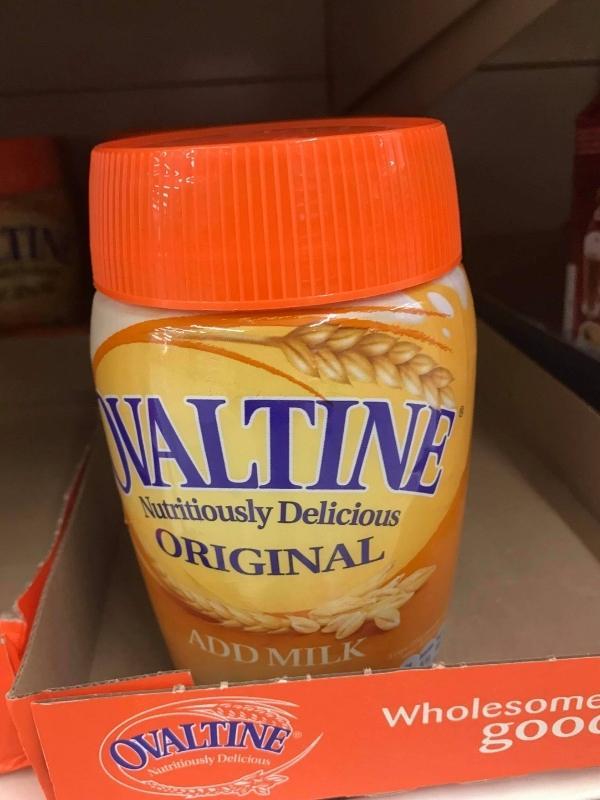 A jar of Ovaltine.