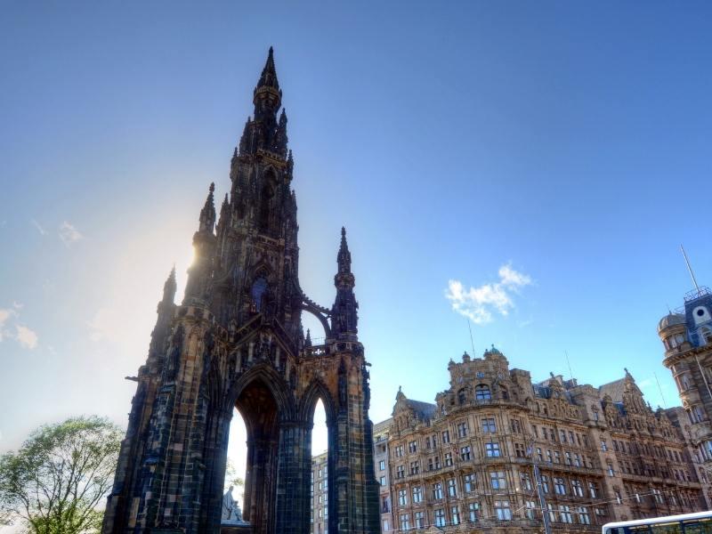 Scott's monument Edinburgh.