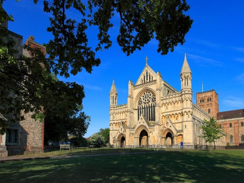St Albans Abbey and Cathedral one of many easy day trips from London by train.