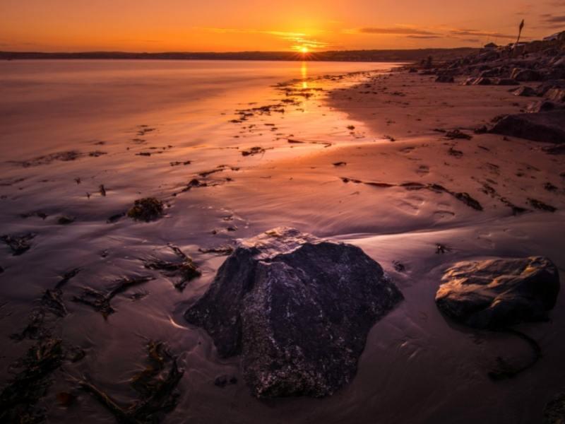 Sunset at Penzance Bay