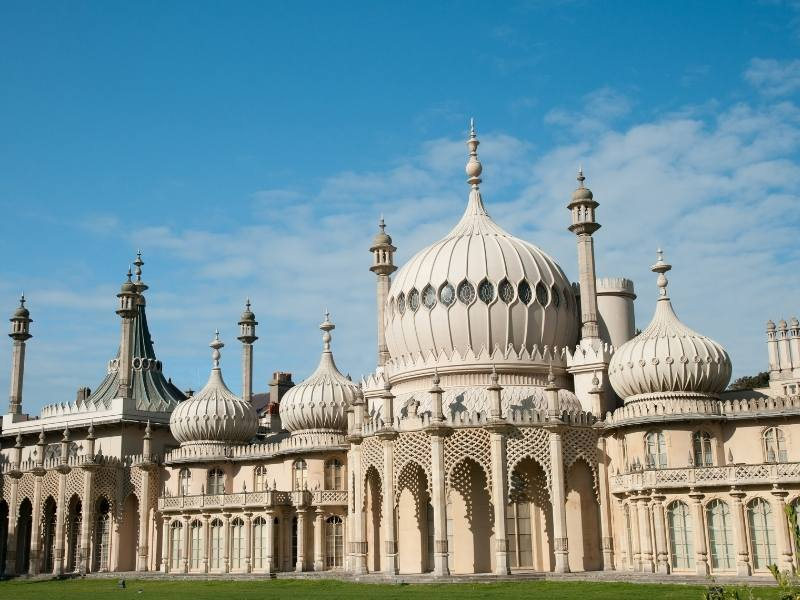 The Brighton Pavilion can be visited on a day trip by train from London.