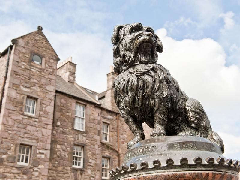 The statue of Greyfriars Bobby in Edinburgh.