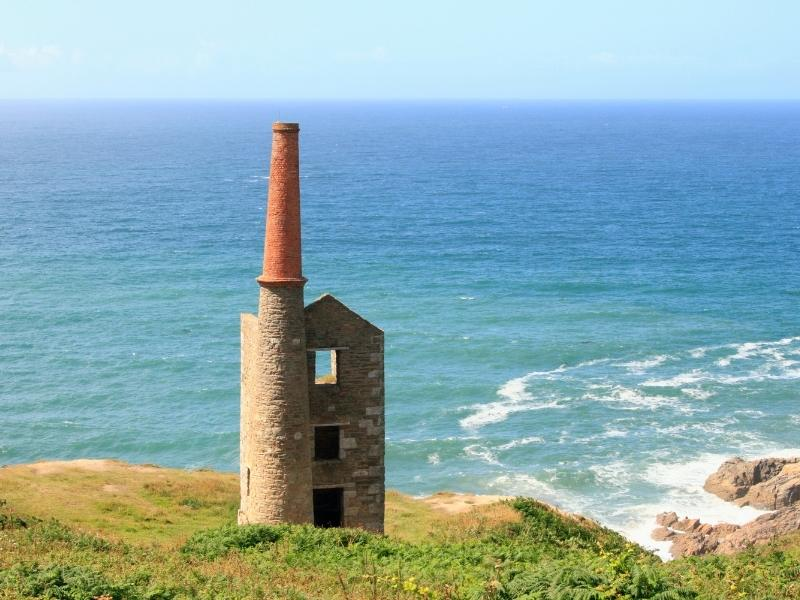 The remains of Tin mines are found all over Cornwall