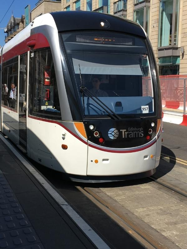 An Edinburgh tram.