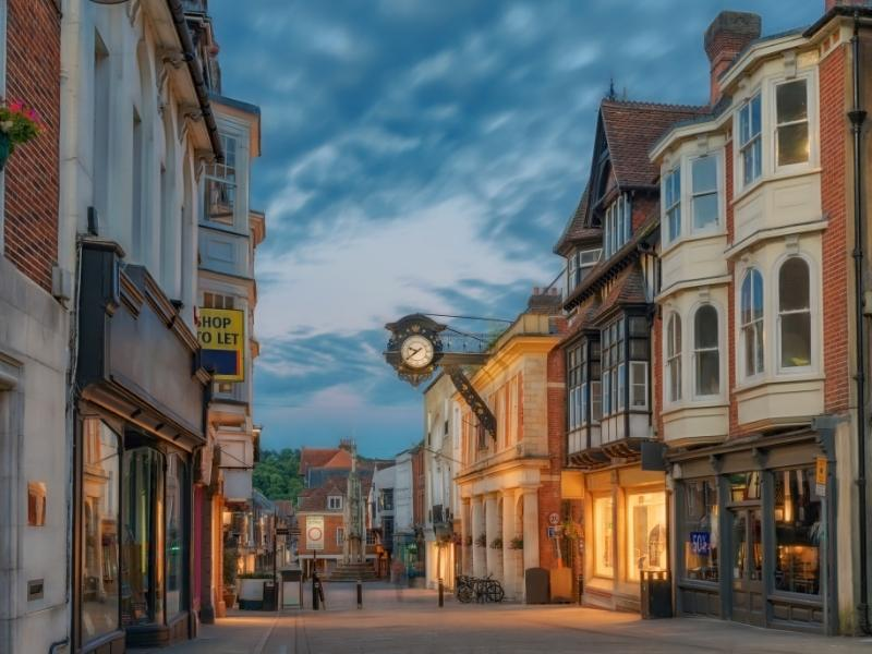 Winchester is a lovely place visit by train from London.