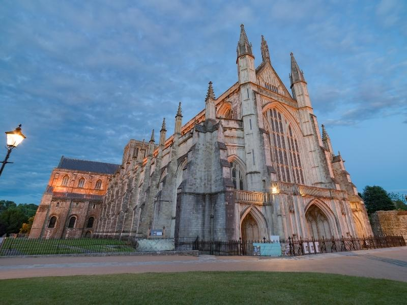 A view of Winchester Cathedral.