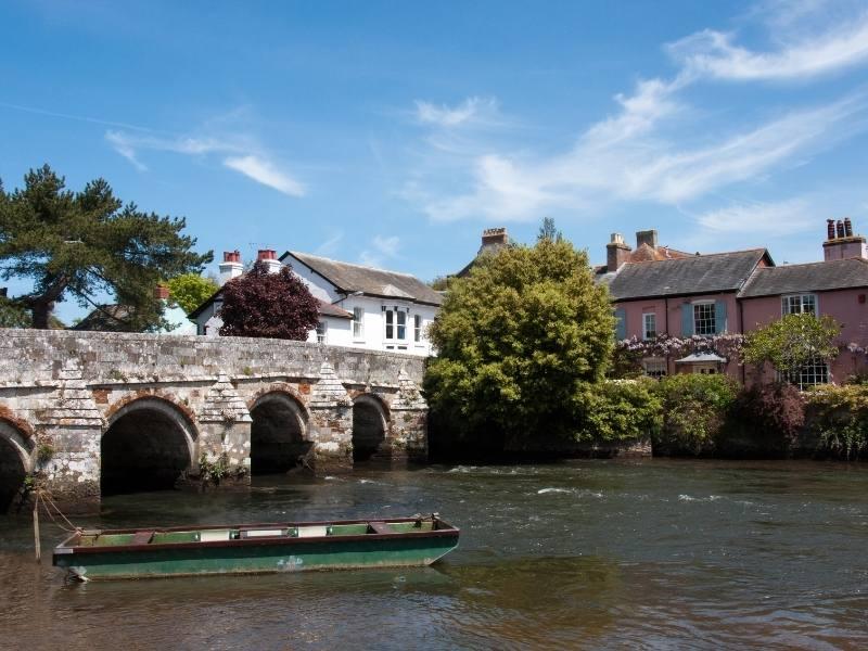Bridge over river in Christchurch Dorset.
