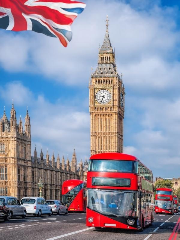 Buses in London.