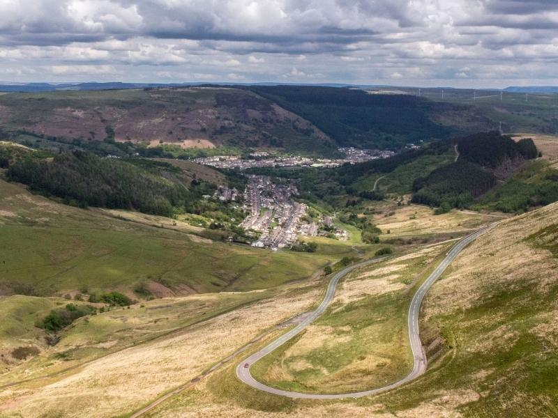 Driving a Welsh road like in the picture is popular with those renting a car in the UK.