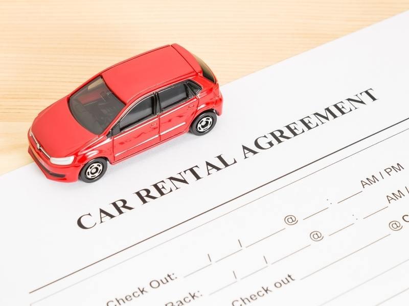 Car rental agreement.