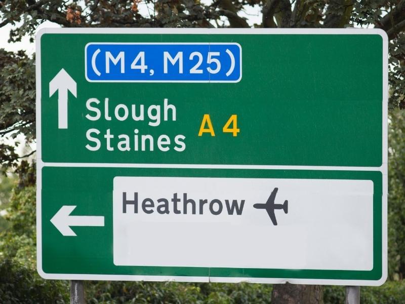 Sign for Heathrow.