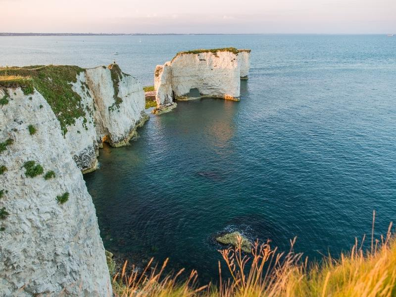 Old Harry Rocks White Cliffs in Bournemouth which is near some of the best places to stay in Dorset.