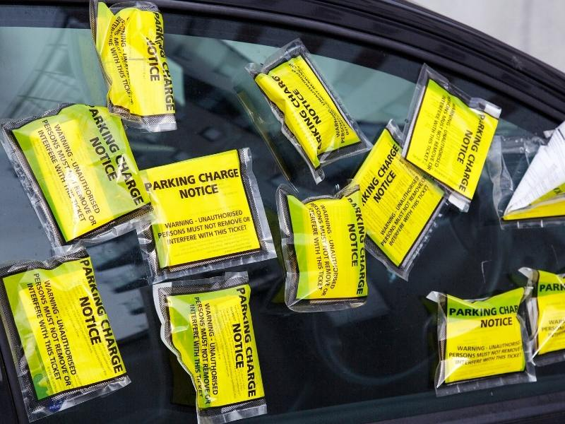 Parking charge notices on a windscreen in the UK not something you want to incur when renting a car in the UK.
