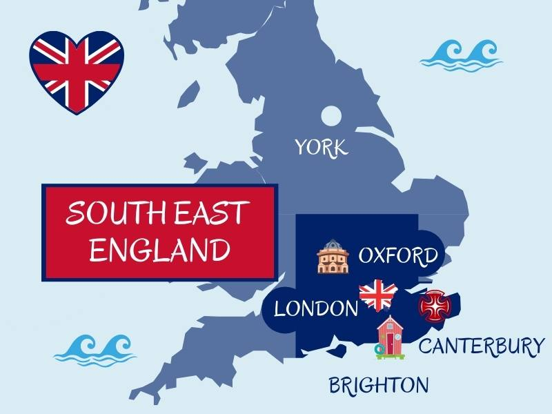 Map showing major UK cities in South West England