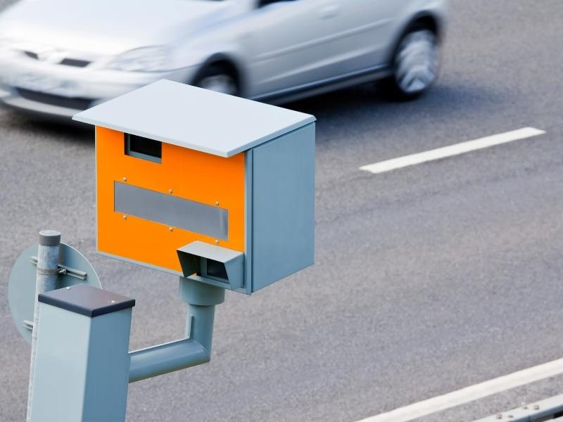 Pay attention for speed cameras like this when renting a car in the UK.