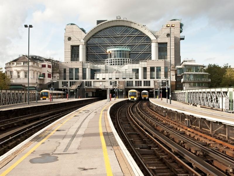 Platforms at Charing Cross station.