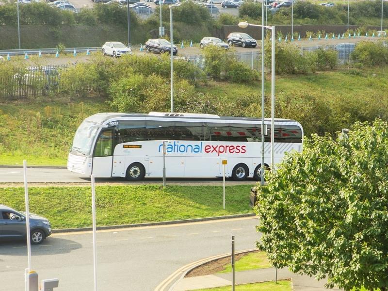 National Express bus.
