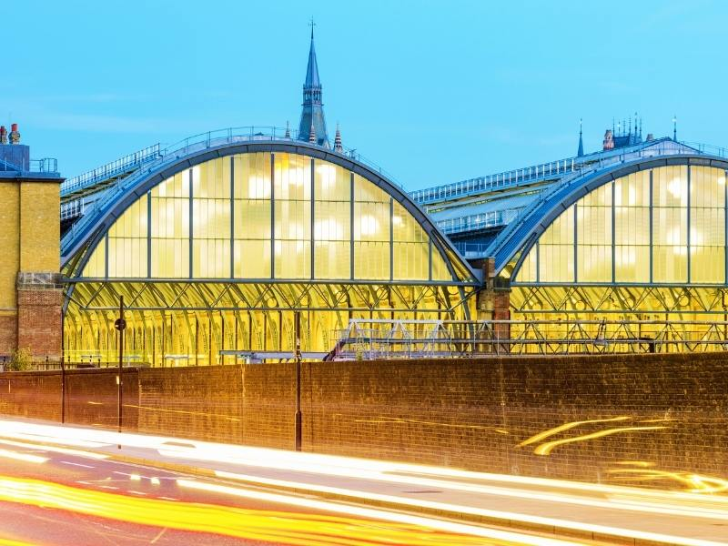 Exterior of London King's Cross station.