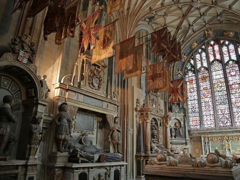 The interior of Canterbury Cathedral.