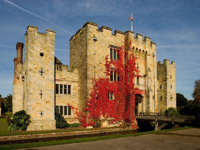 Hever Castle is one of many castle hotels in England you can actually stay in.