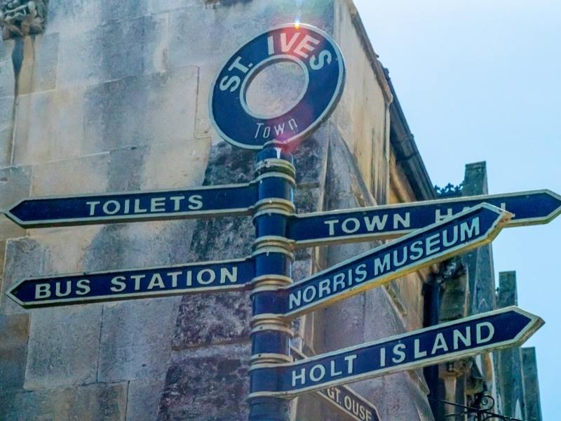 Street signs in St Ives Cornwall.