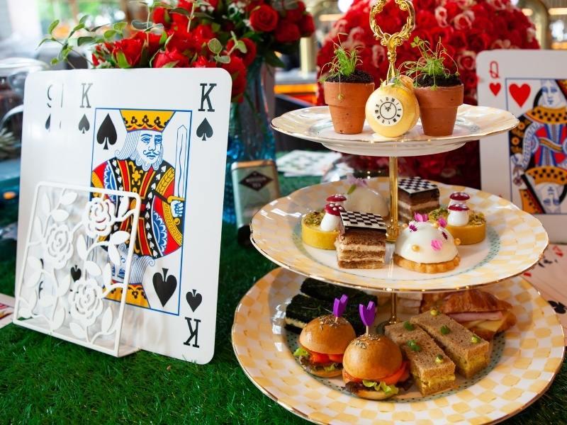 Alice in Wonderland themed afternoon tea.