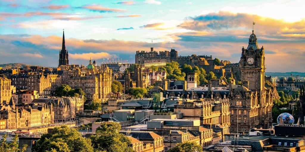 Best places to stay in Edinburgh aerial view of the city