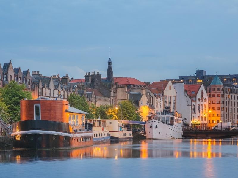 An image of Leith in Edinburgh.