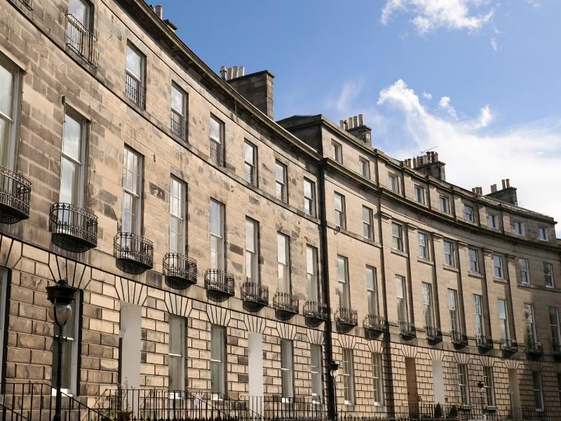 Houses in Edinburgh's New Town area and one of the Best places to stay in Edinburgh.